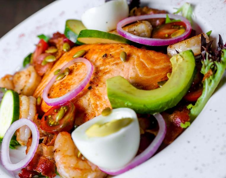 Fuego Tortilla salmon salad